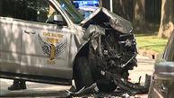 تصادف تبهکاران با خودروی پلیس حین تعقیب و گریز