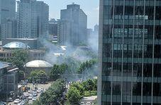 اولین فیلم از وقوع انفجار در نزدیکی سفارت آمریکا در پکن