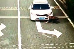 تمارض عجیب زن  به تصادف برای دریافت پول از راننده!