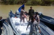 امدادرسانی قایقهای تندرو سپاه در مناطق سیلزده ایلام