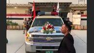 لحظه حمل پیکر پاک سپهبد قاسم سلیمانی و همراهان شهیدش در بغداد