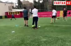 تنیس فوتبال با حضور گل محمدی،بیرانوند،منصوریان و میثاقی