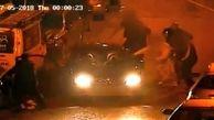 صحنه وحشتناکی که سارق خودرو در خیابان رقم زد!