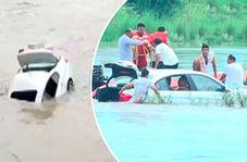 جوان ناسپاس BMW هدیه پدرش را به داخل رودخانه انداخت