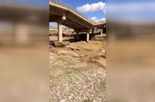 تخریب پل سد ساوه در سیل