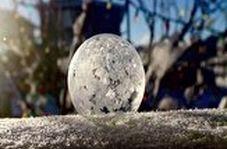 لحظاتی تماشایی از یخ زدن حباب