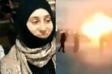 عملیات انتحاری زن تروریست مقابل پاسگاه پلیس