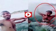 سلفی مرگبار پسرعموهای هندوستانی در دریاچه!