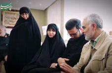 حضور سردار سلیمانی در منزل شهید خوشلفظ