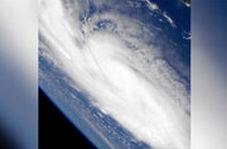 طوفانی در اقیانوس اطلس از نگاه ایستگاه فضایی