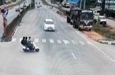 حادثه دلخراش در خیابانی در هند