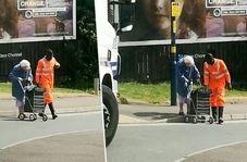 صحنه زیبایی که راننده کامیون در خیابان رقم زد