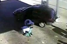 فرار ناکام سارق یک خودرو از پمپ بنزین