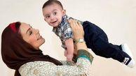 تبریک پسر ماهچهره خلیلی در روز مادر اشک همه را درآورد +فیلم