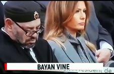 تعجب ترامپ از چرت زدن پادشاه مراکش حین سخنرانی مکرون!