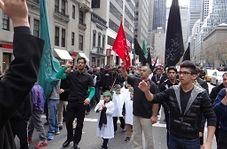 حرکت دسته عزاداران حسینی در خیابانهای نیویورک