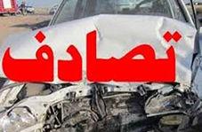 تصادف کامیون با خودروی سواری در بزرگراه + فیلم