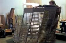 خلاقیت در طراحی صندلیهایی که مانند موج تغییر شکل میدهند