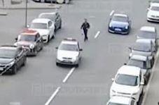 راننده متخلفی که خودروی پلیس را دزدید