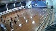 تخریب سالن ورزشی توسط طوفان شدید