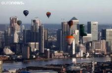 پرواز ٤٦ بالن در آسمان لندن