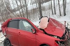 سبقت مرگبار راننده زن در جادهای یخ زده + فیلم