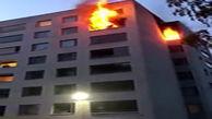 فرار مرگبار یک مرد از میان شعلههای آتش!
