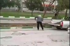 اقدام عجیب شهرداری شوشتر برای ترمیم خیابان!