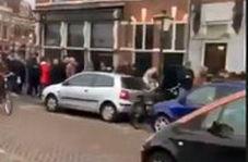 عجیبترین صف دنیا از ترس قرنطینه کرونا در هلند:صف خرید ماریجوانا!