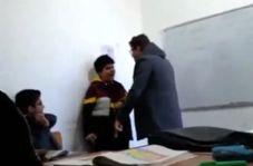 برخورد عجیب یک معلم با دانشآموز سر کلاس