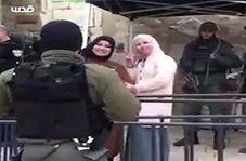 لبخند تحقیرآمیز دو بانوی فلسطینی به نظامیان رژیم صهیونیستی