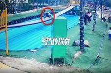 لحظه مرگ مرد میانسال حین بازی در پارک