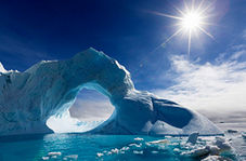 موقعیت خورشید در یک روز تابستانی قطبی