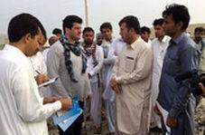رسول خادم میان مردم سیستان و بلوچستان، شاهکارش را در دل کرونا ادامه داد