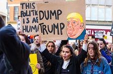تجمع ضد ترامپ روبه روی کاخ سفید