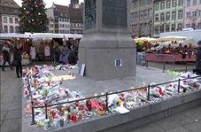 ادای احترام مردم فرانسه به کشته شدگان حمله تروریستی استراسبورگ