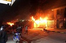 آتش زدن کنسولگری ایران در نجف اشرف