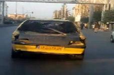 حمل بار عجیب بار توسط تاکسی فرسوده !!