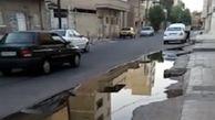 چهره زننده فاضلاب در یکی از خیابانهای اهواز