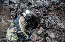 جسد سومین کارگر از زیر آوار در خیابان شهید دستگردی تهران پیدا شد + فیلم