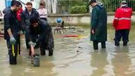 فیلم ملکی از امدادرسانی آتشنشانان تهران در مناطق سیلزده