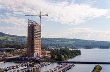 ساخت بلندترین ساختمان چوبی جهان