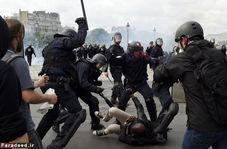 برخورد خشونتآمیز پلیس فرانسه با معترضان در مهد آزادی و مردمسالاری!