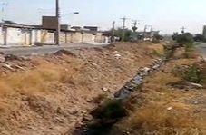 وضعیت نامناسب فاضلاب مجاورت منطقه مسکونی در شوشتر