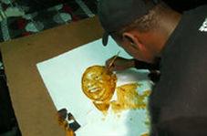 کشیدن نقاشی ۱۲۰۰ دلاری با قهوه
