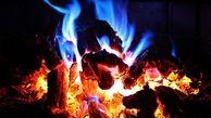 گرم شدن دانشآموزان با آتش هیزم!!