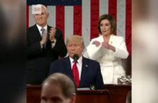 دابسمش مشهدی سخنرانی جنجالی ترامپ در کنگره و پارهکردن متن نطقش