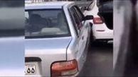 بدشانسترین راننده پراید دنیا در تهران از پشت به مازراتی کوبید!