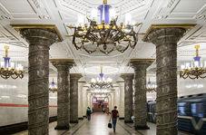 لوکسترین ایستگاه مترو روسیه در سنپطرزبورگ
