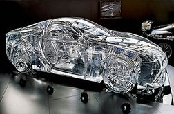 ساخت خودرویی تمام شیشه ای